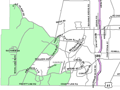 District 2 Commissioner Map