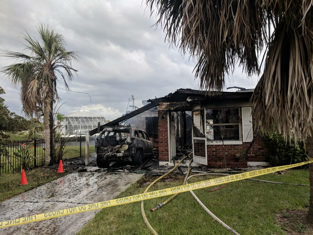 Hernando Beach house fire