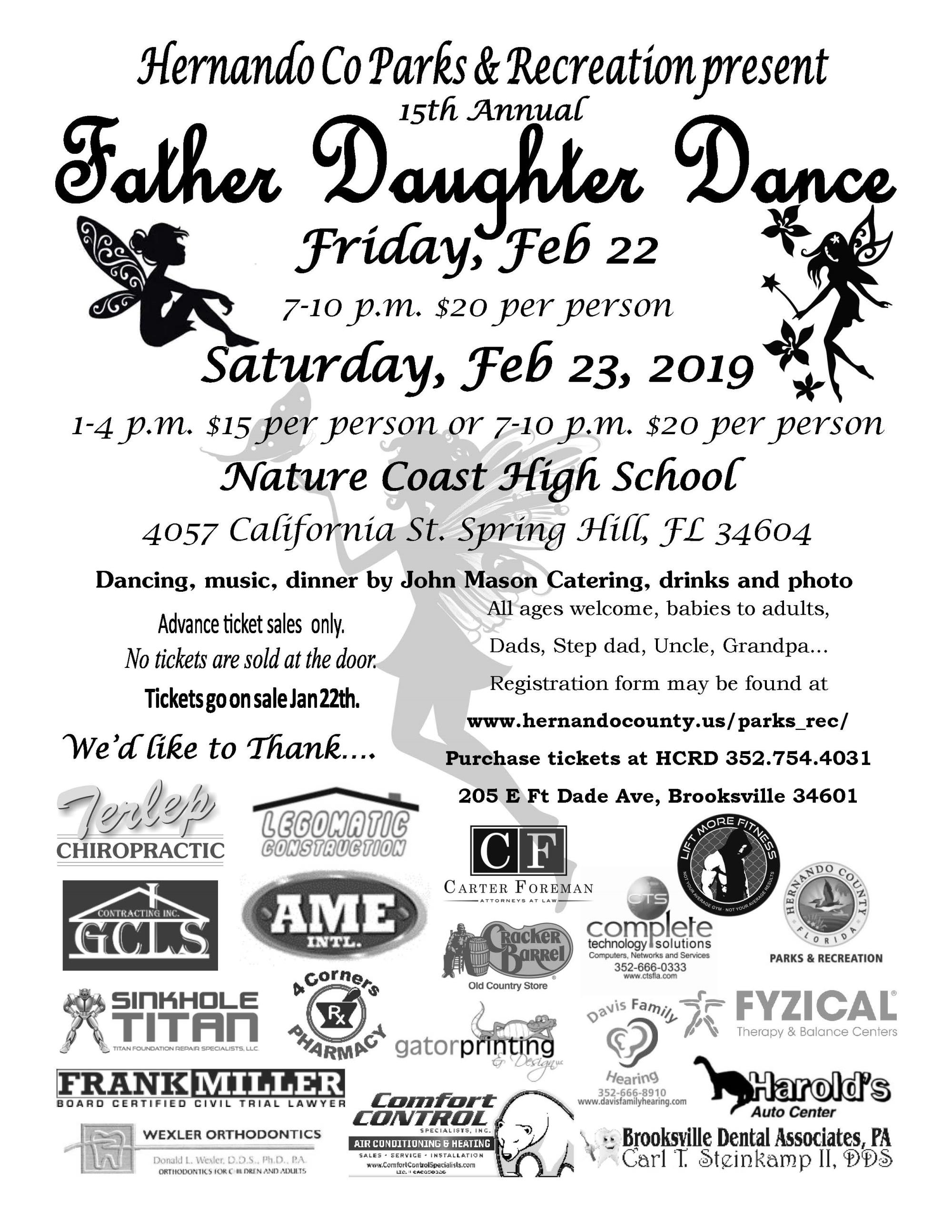 Father Daughter Dance flier
