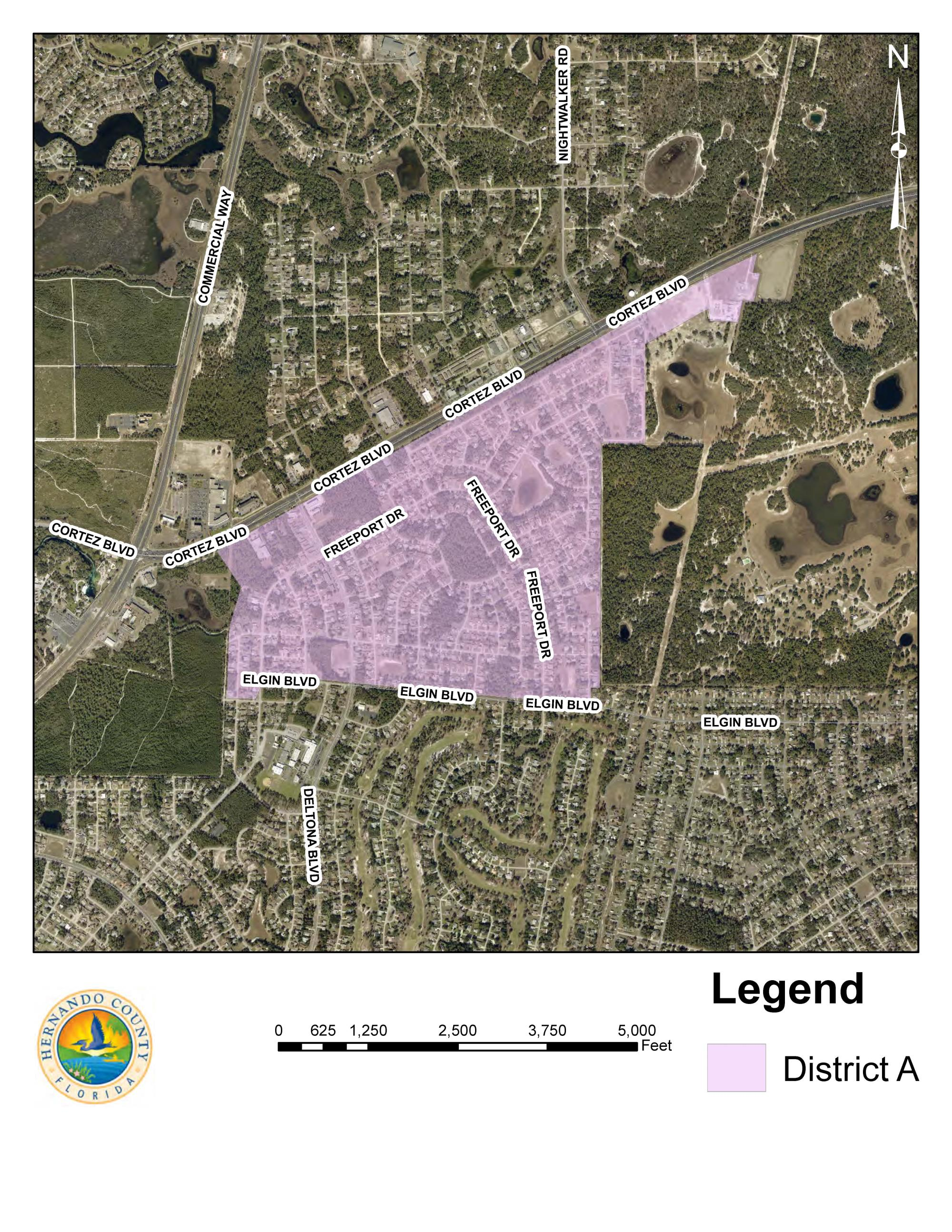 The general boundary area of Septic to Sewer Project is:  North Border:  Hwy 50 (west of the Sandhill Scout Reservation) South Border: Elgin Blvd. (west of Nardello Ave) Rd. East Border:   Nardello Ave, India Dr. Hazelwood Rd (to Brentlawn St/Hwy 50) West Border: Lyon Rd, west of Elgin and Moongate north of Lyon rd