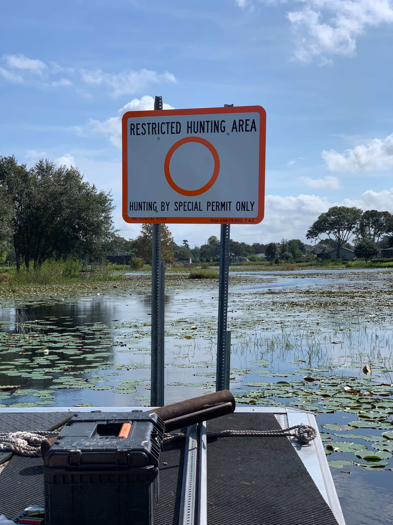Restricted Hunting Area Signs - Hunters Lake