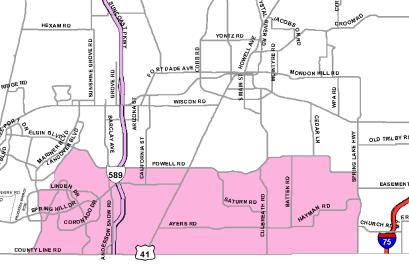 District 4 Commissioner Map