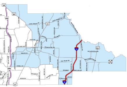 District 5 Commissioner Map